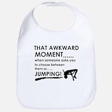 Jumping sports designs Bib