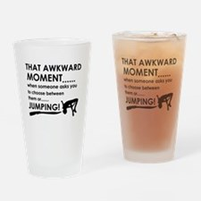 Jumping sports designs Drinking Glass