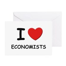 I love economists Greeting Cards (Pk of 10)