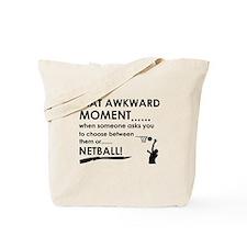 Netball sports designs Tote Bag