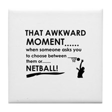 Netball sports designs Tile Coaster