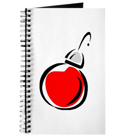 Red Christmas Ornament Journal