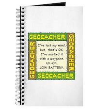 Green Geocacher Lost Mind Journal