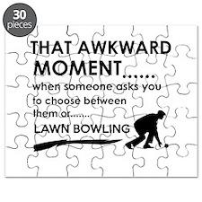 Lawn Bowling sports designs Puzzle