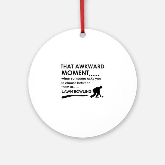 Lawn Bowling sports designs Ornament (Round)