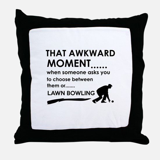 Lawn Bowling sports designs Throw Pillow