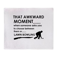 Lawn Bowling sports designs Throw Blanket