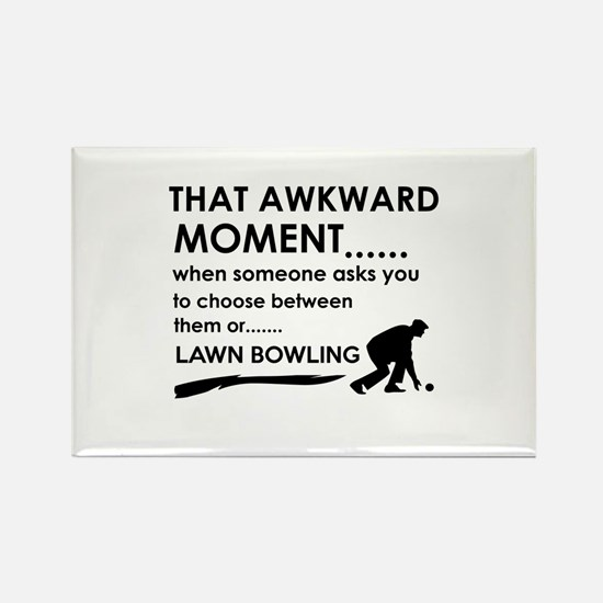 Lawn Bowling sports designs Rectangle Magnet