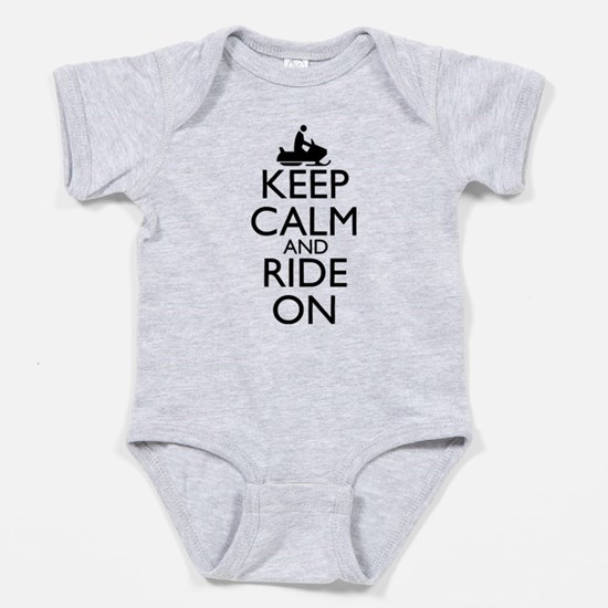 Keep Calm and Ride On Baby Bodysuit