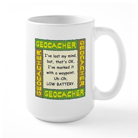 Green Geocacher Lost Mind Large Mug