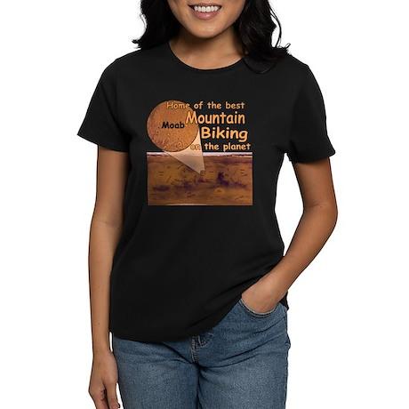 Moab Mountain Biking Women's Dark T-Shirt