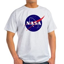 First 117 NASA logo Ash Grey T-Shirt