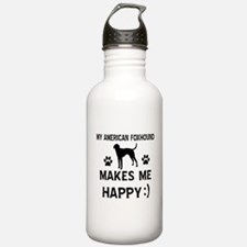 My American Foxhound makes me happy Water Bottle