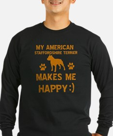 My American Staffordshire makes me happy T