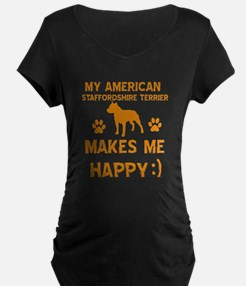 My American Staffordshire makes me happy T-Shirt