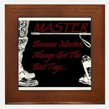 Master's Toys - BDSM Design Framed Tile