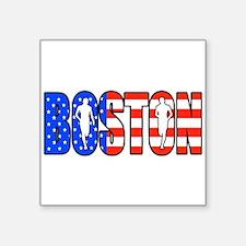 """Boston patriot Square Sticker 3"""" x 3"""""""