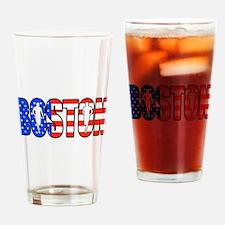 Boston patriot Drinking Glass