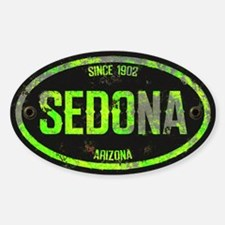 Sedona Lime Metal Grunge Oval