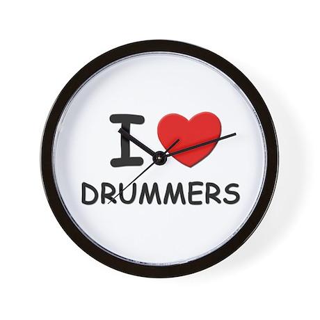 I love drummers Wall Clock