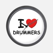 I love drummers Wall Clock