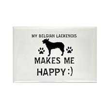 My Belgian Laekenois makes me happy Rectangle Magn