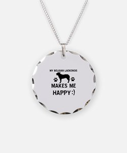 My Belgian Laekenois makes me happy Necklace Circl