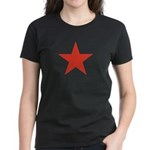 Red Five Point Star Women's Dark T-Shirt