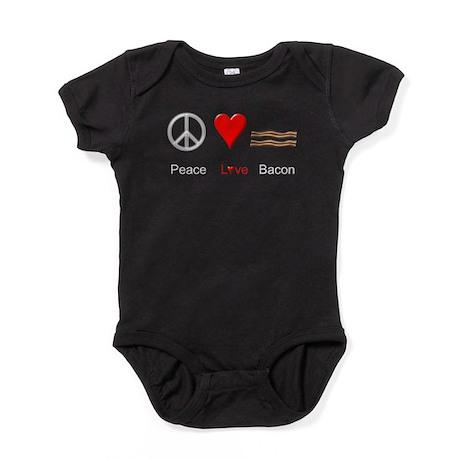 Peace Love Bacon Baby Bodysuit