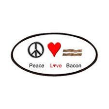 Peace Love Bacon Patches