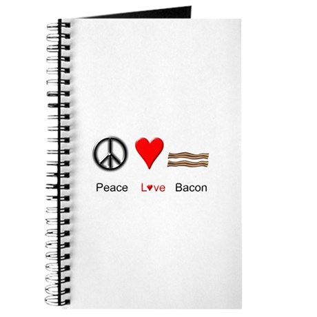 Peace Love Bacon Journal
