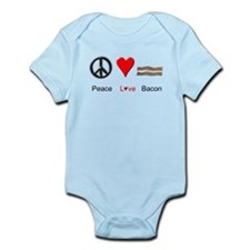 Peace Love Bacon Infant Bodysuit