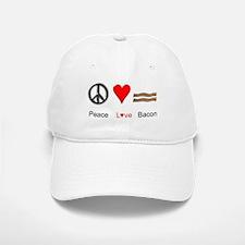 Peace Love Bacon Baseball Baseball Cap