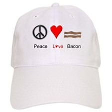 Peace Love Bacon Baseball Cap