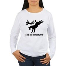 Horse I Do My Own Stunts Women's Long Sleeve Tee