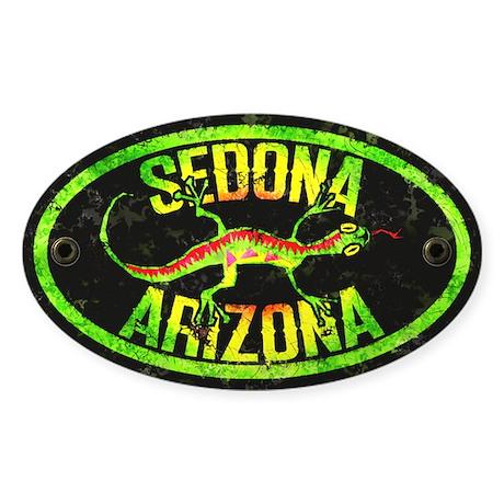 Sedona Gecko Grunge Oval