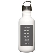 Never Give Up Water Bottle