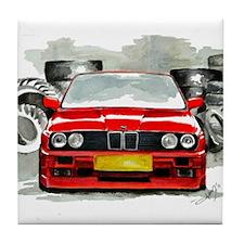 BMW E30 M3 by Aleczandra Lee© Tile Coaster