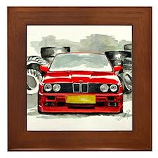 BMW E30 M3 by Aleczandra Lee© Framed Tile