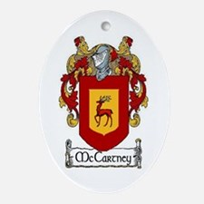 McCartney Coat of Arms Ornament (Oval)