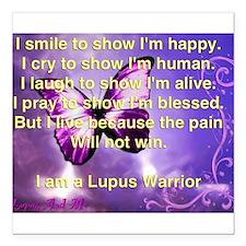 """Lupus Warrior Square Car Magnet 3"""" x 3"""""""