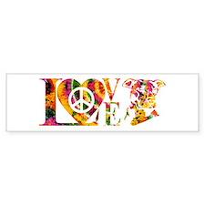 PITBULL LOVE Bumper Car Sticker