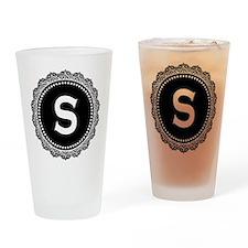 Monogram Medallion S Drinking Glass