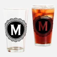 Monogram Medallion M Drinking Glass