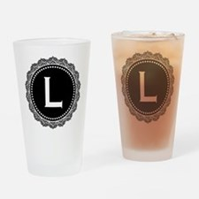 Monogram Medallion L Drinking Glass