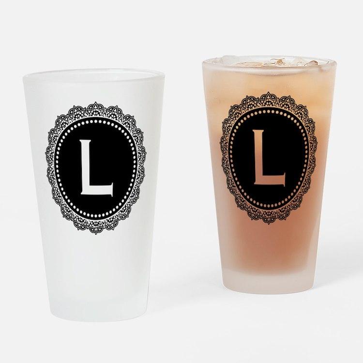 Monogram Medallion L Drinking Glass