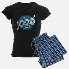 #1 Hockey Coach Pajamas