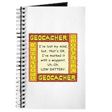 Brown Geocacher Lost Mind Journal