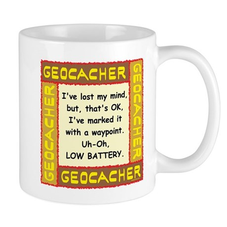 Brown Geocacher Lost Mind Mug