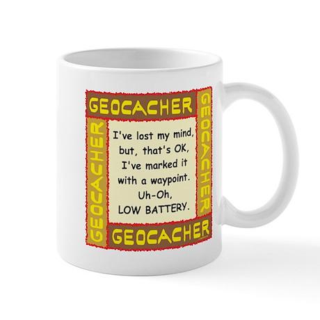 Brown Geocacher Lost Mind Mug